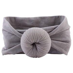 Gray Turban Baby Headband
